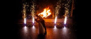 Холодные фонтаны и огненные сердца на свадьбу в Иваново