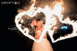 Огненные сердца на свадьбу в Семигорье