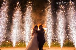 Холодная пиротехника и огненные сердца на свадьбу в Тейково - ресторан Ресторация