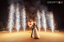 Холодная пиротехника и огненные сердца на свадьбу в Шереметев парк-отеле