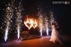 Пиротехническое завершение свадьбы в Шереметев парк-отеле
