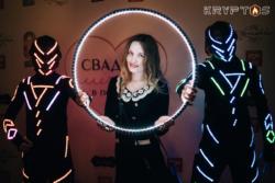 Светящиеся артисты для встречи гостей в Иваново